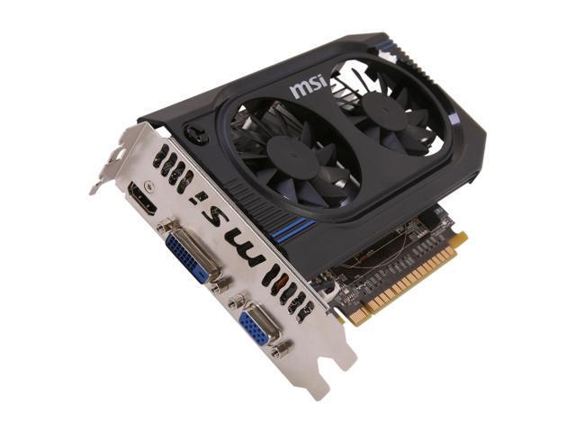 MSI GeForce GT 640 DirectX 11 N640GT-MD2GD3/OC 2GB 128-Bit DDR3 PCI Express 3.0 x16 HDCP Ready Video Card