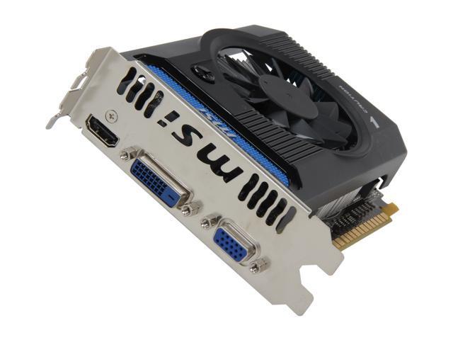 MSI GeForce GT 640 DirectX 11 N640GT-MD2GD3 2GB 128-Bit DDR3 PCI Express 3.0 x16 HDCP Ready Video Card