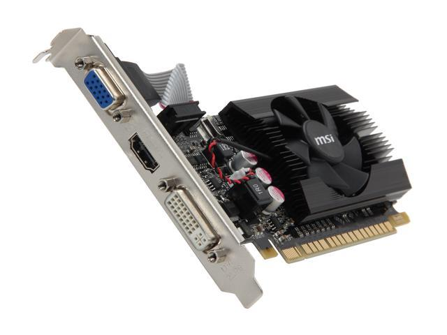 MSI GeForce GT 610 DirectX 11 N610GT-MD2GD3/LP 2GB 64-Bit DDR3 PCI Express 2.0 x16 HDCP Ready Low Profile Ready Video Card