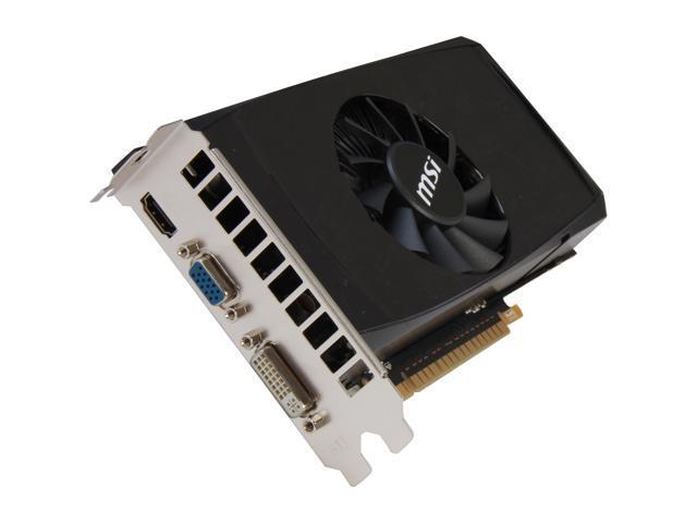 MSI GeForce GTX 550 Ti (Fermi) DirectX 11 N550GTX-Ti MD1GD5 V2 1GB 192-Bit GDDR5 PCI Express 2.0 x16 HDCP Ready SLI Support Video Card