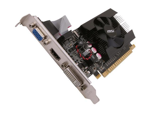 MSI GeForce GT 610 DirectX 11 N610GT-MD1GD3/LP 1GB 64-Bit DDR3 PCI Express 2.0 x16 HDCP Ready Video Card
