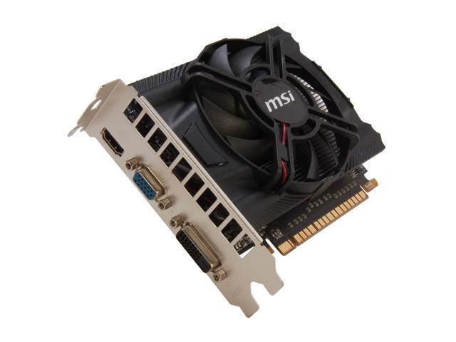 MSI GeForce GTX 650 DirectX 11 N650-MD1GD5/OC 1GB 128-Bit GDDR5 PCI Express 3.0 x16 HDCP Ready Video Card