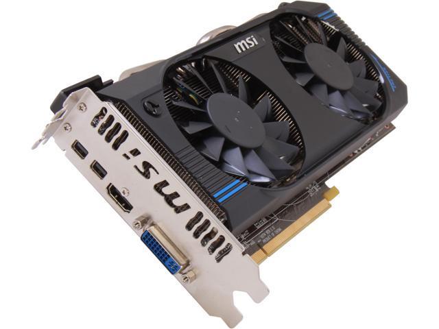 MSI Radeon HD 7870 GHz Edition DirectX 11 R7870-2GD5T/OC Video Card