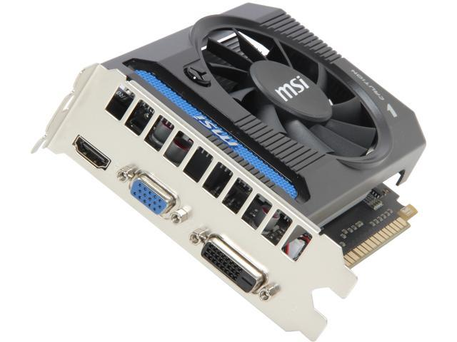 MSI GeForce GT 640 DirectX 11 N640-4GD3 4GB 128-Bit GDDR3 PCI Express 3.0 x16 HDCP Ready Video Card