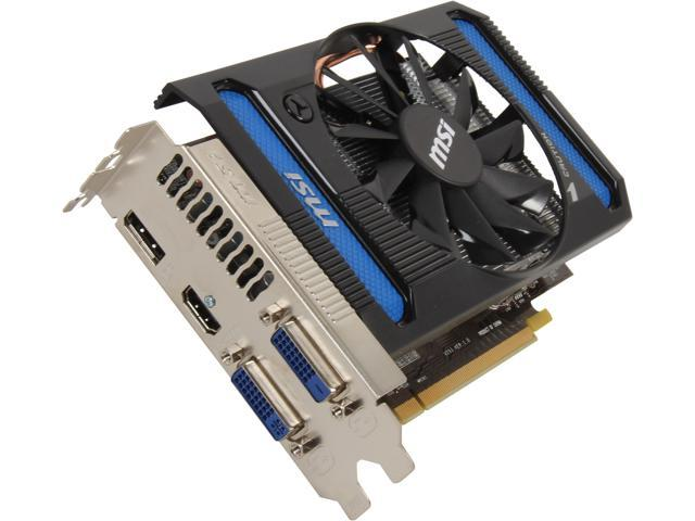 MSI Radeon HD 7790 DirectX 11 R7790-1GD5/OC 1GB 128-Bit GDDR5 PCI Express 3.0 x16 HDCP Ready CrossFireX Support Video Card