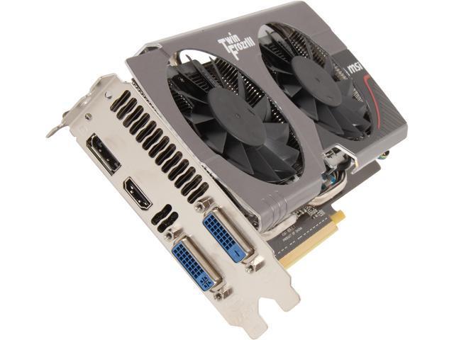 MSI GeForce GTX 650 Ti BOOST DirectX 11.1 N650TI TF 2GD5/OC BE Video Card