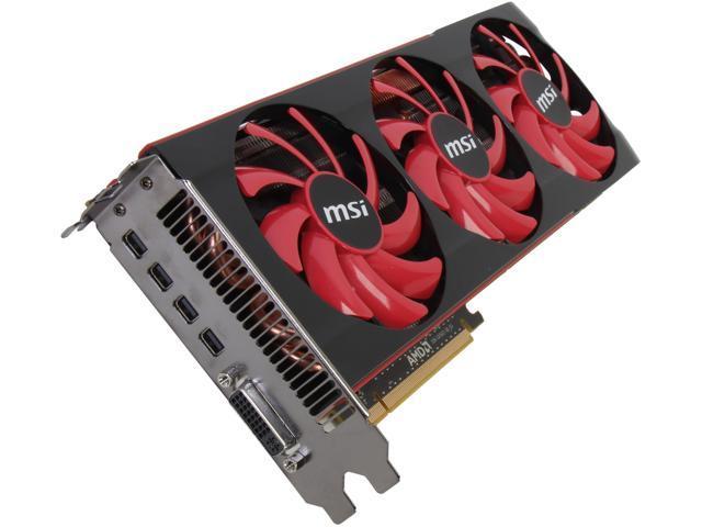 MSI Radeon HD 7990 DirectX 11.1 R7990-6GD5 6GB 384-Bit x2 GDDR5 PCI Express 3.0 x16 HDCP Ready CrossFireX Support Video Card