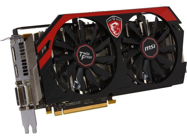 MSI Gaming N760 TF 4GD5/OC G-SYNC Support GeForce GTX 760 4GB 256-Bit GDDR5 PCI Express 3.0 SLI Support Video Card