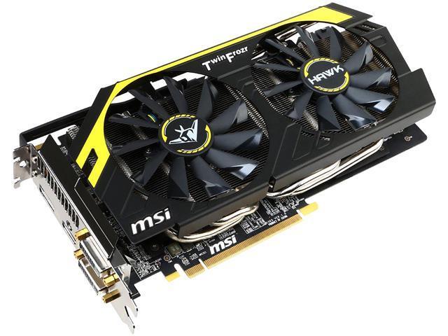 MSI Radeon R9 270X DirectX 11.2 R9 270X HAWK 2GB 256-Bit GDDR5 PCI Express 3.0 HDCP Ready CrossFireX Support Video Card