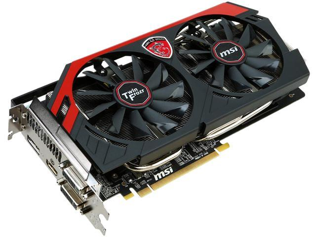 MSI Radeon R9 270X DirectX 11.2 R9 270X GAMING 2G 2GB 256-Bit GDDR5 PCI Express 3.0 x16 HDCP Ready CrossFireX Support Video Card