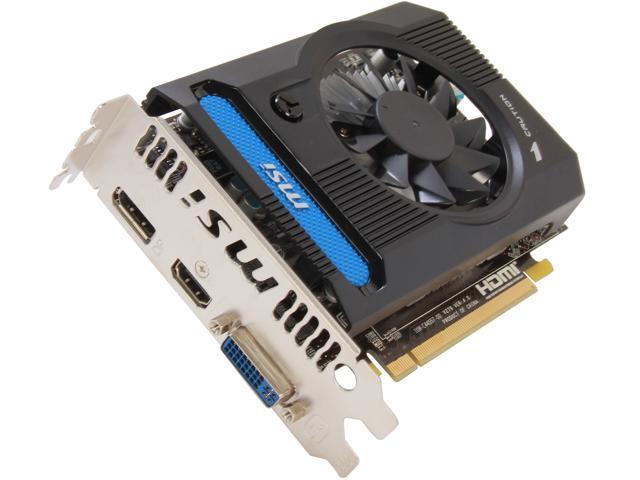 MSI Radeon HD 7750 DirectX 11 R7750-PMD2GD3 2GB 128-Bit DDR3 PCI Express 3.0 x16 HDCP Ready Video Card
