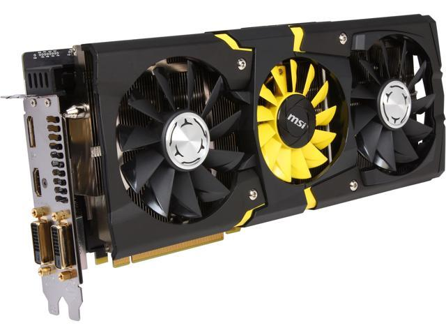 MSI R9 290X LIGHTNING 4GB 512-Bit GDDR5 PCI Express 3.0 HDCP Ready CrossFireX Support Video Card - Retail