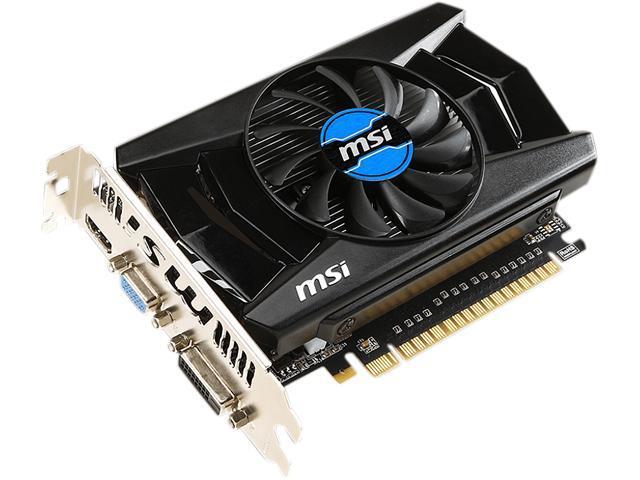 MSI GeForce GT 740 DirectX 12 N740-2GD3 2GB 128-Bit DDR3 PCI Express 3.0 x16 HDCP Ready Plug-in Card Video Card