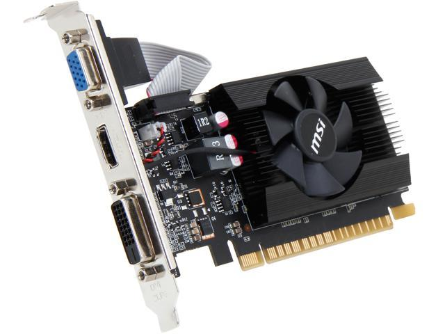 MSI N720-2GD3LP GeForce GT 720 2GB 64-Bit DDR3 HDCP Ready Low Profile Video Card
