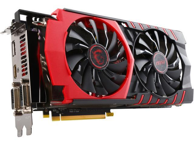 MSI R9 390X GAMING 8G Radeon R9 390X 8GB 512-Bit GDDR5 PCI Express 3.0 HDCP Ready CrossFireX Support ATX Video Card