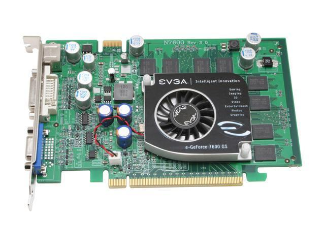EVGA 512-P2-N548-TX GeForce 7600GS 512MB 128-bit GDDR2 PCI Express x16 SLI Support Video Card