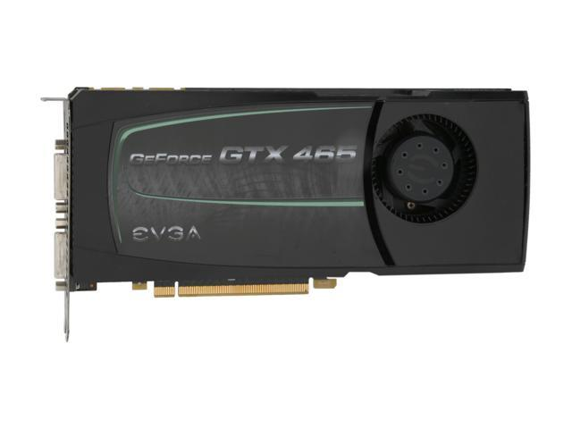 EVGA 01G-P3-1465-RX GeForce GTX 465 (Fermi) 1GB 256-bit GDDR5 PCI Express 2.0 x16 HDCP Ready SLI Support Video Card