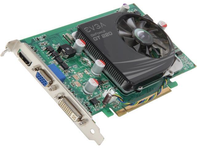 EVGA GeForce GT 220 DirectX 10.1 01G-P3-1229-LR 1GB 128-Bit DDR3 PCI Express 2.0 x16 HDCP Ready Video Card