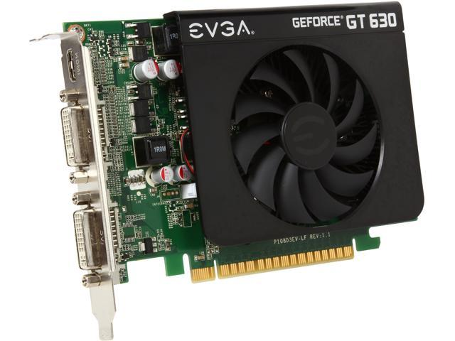 EVGA GeForce GT 630 DirectX 12 (feature level 11_0) 02G-P3-2639-KR 2GB 128-Bit DDR3 PCI Express 2.0 x16 HDCP Ready Video Card