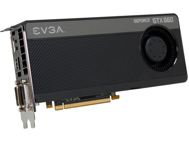 EVGA GeForce GTX 600 SuperClocked GeForce GTX 660 DirectX 12 (feature level 11_0) 02G-P4-2662-KR Video Card