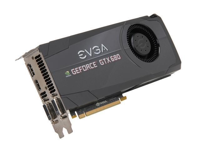 EVGA GeForce GTX 600 SuperClocked GeForce GTX 680 DirectX 11 02G-P4-2684-RX Video Card