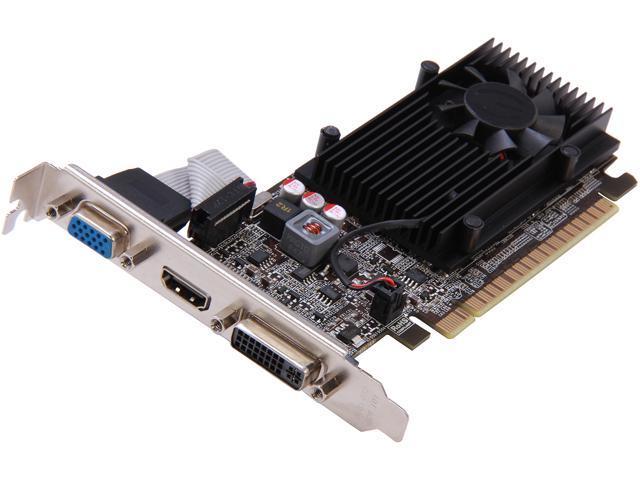 EVGA GeForce GT 610 DirectX 11 01G-P3-2615-RX 1GB 64-Bit DDR3 PCI Express 2.0 x16 HDCP Ready Video Card