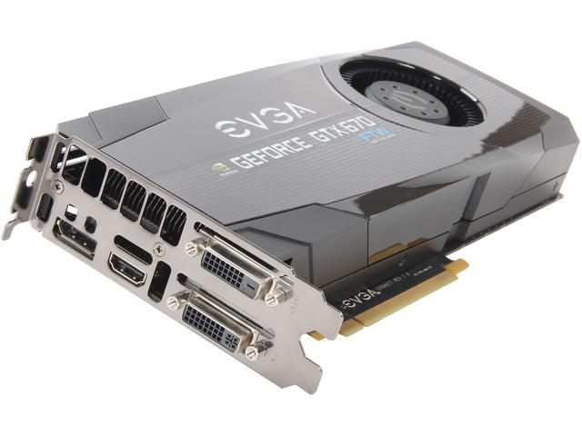 EVGA GeForce GTX 670 DirectX 11 02G-P4-2676-RX 2GB 256-Bit GDDR5 PCI Express 3.0 x16 HDCP Ready SLI Support Video Card