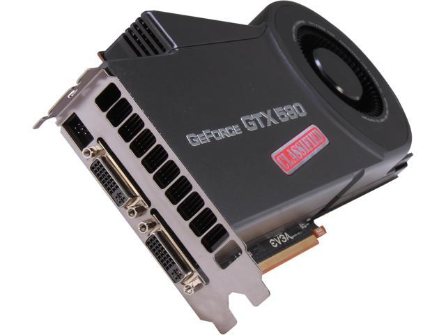 EVGA GeForce GTX 580 (Fermi) DirectX 11 03G-P3-1594-RX Video Card