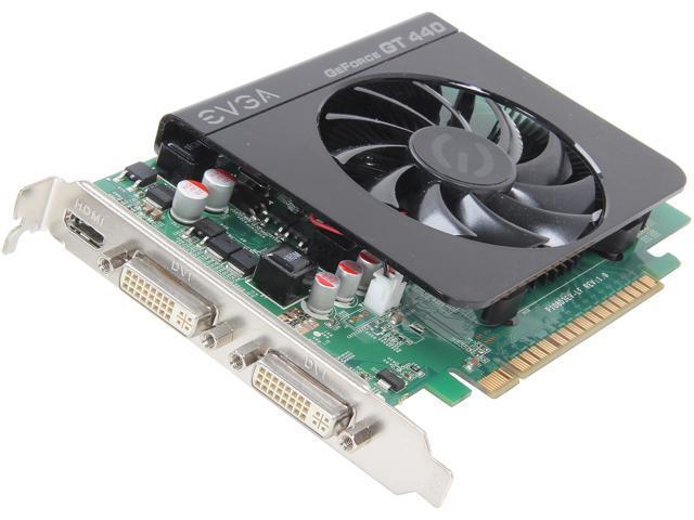 EVGA GeForce GT 440 (Fermi) DirectX 11 01G-P3-1441-RX Video Card
