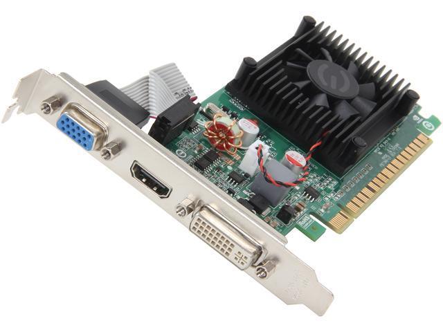 EVGA GeForce 210 DirectX 10.1 01G-P3-1312-RX 1GB 64-Bit DDR3 PCI Express 2.0 HDCP Ready Low Profile Video Card