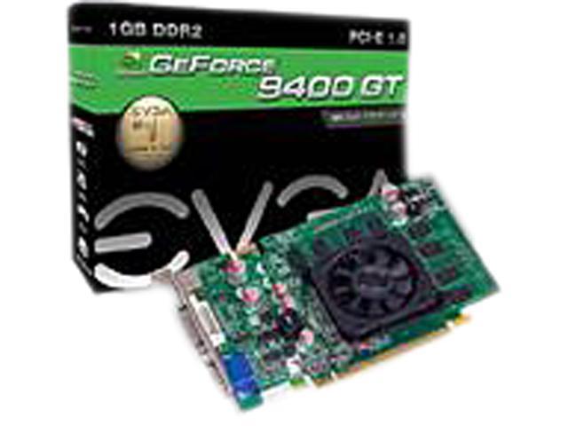 EVGA GeForce 9400 GT DirectX 10 01G-P2-N942-RX 1GB 128-Bit DDR2 PCI Express 1.0 HDCP Ready Video Card