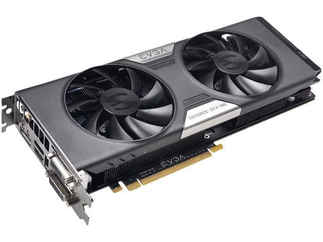EVGA ACX Cooler 03G-P4-2784-KR GeForce GTX 780 3GB 384-bit GDDR5 PCI Express 3.0 SLI Support Video Card