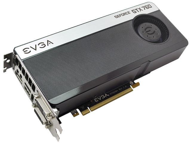 EVGA GeForce GTX 760 DirectX 11.1 02G-P4-2760-KR 2GB 256-Bit GDDR5 PCI Express 3.0 SLI Support Video Card