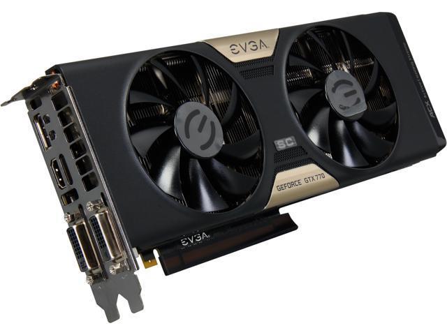 EVGA G-SYNC Support GeForce GTX 770 DUAL SuperClocked 4GB 256-bit GDDR5 PCI Express 3.0 SLI Support Video Card 04G-P4-3774-KR