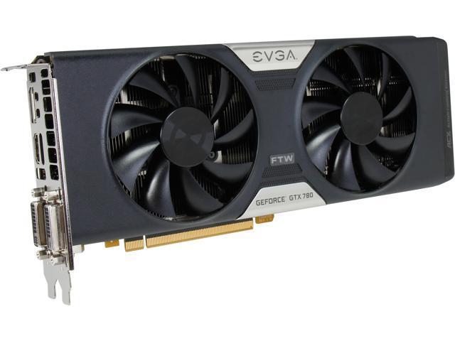 EVGA 03G-P4-3784-KR G-SYNC Support GeForce GTX 780 3GB 384-Bit GDDR5 PCI Express 3.0 SLI Support Dual FTW w/ EVGA ACX Cooler Video Card