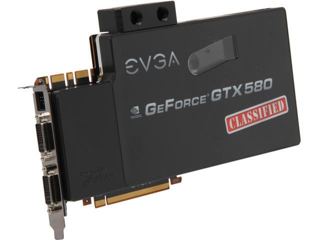 EVGA GeForce GTX 580 (Fermi) DirectX 11 03G-P3-1597-RX 3GB 384-Bit GDDR5 PCI Express 2.0 x16 HDCP Ready SLI Support Video Card