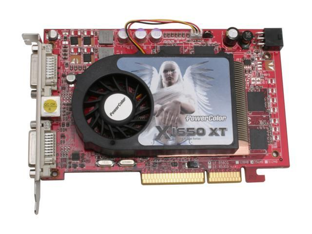 PowerColor X1650XT256AGP Radeon X1650XT 256MB 128-bit GDDR3 AGP 4X/8X Video Card