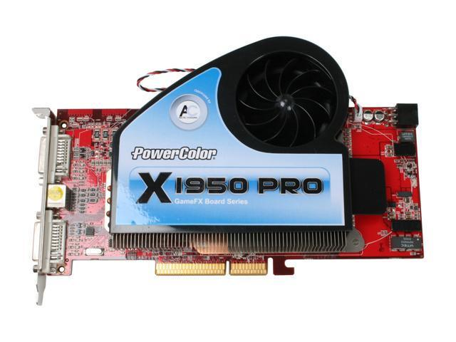 PowerColor X1950PRO 512 AGP Radeon X1950PRO 512MB 256-bit GDDR3 AGP 4X/8X Video Card