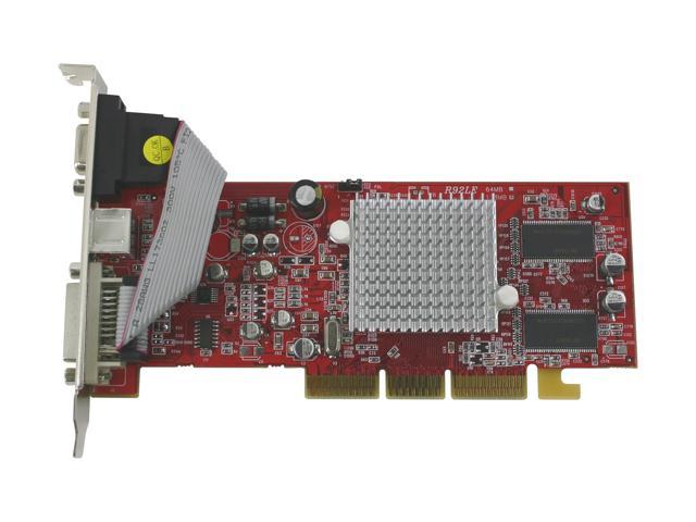 PowerColor R92L-LC3 Radeon 9250 128MB 64-bit DDR AGP 4X/8X Low Profile Video Card