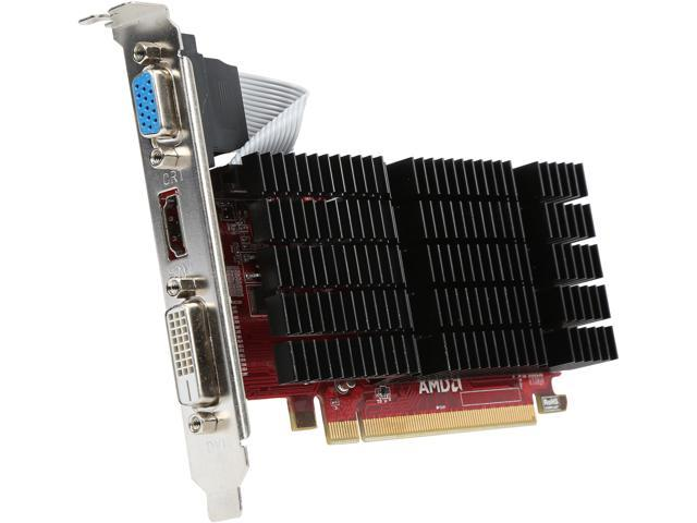 PowerColor Go! Green Radeon HD 5450 DirectX 11 AX5450 1GBK3-SHEV4 1GB 64-Bit DDR3 PCI Express 2.1 CrossFireX Support Low Profile Video Card (UEFI Ready)