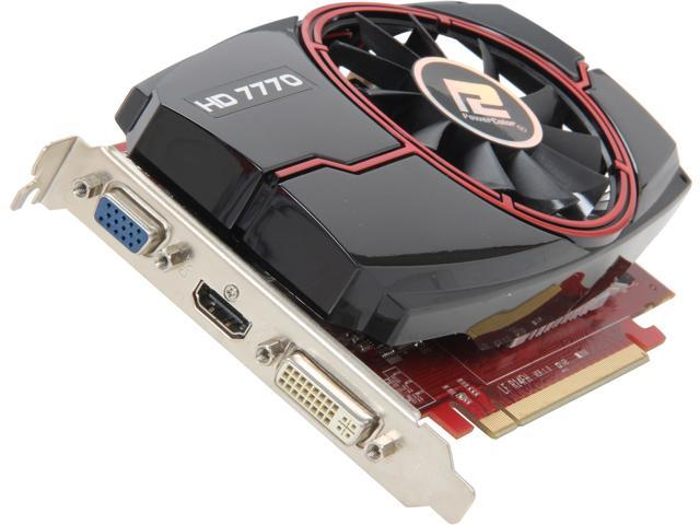 PowerColor Radeon HD 7770 DirectX 11.1 AX7770 1GBD5-HE 1GB 128-Bit GDDR5 HDCP Ready CrossFireX Support Video Card