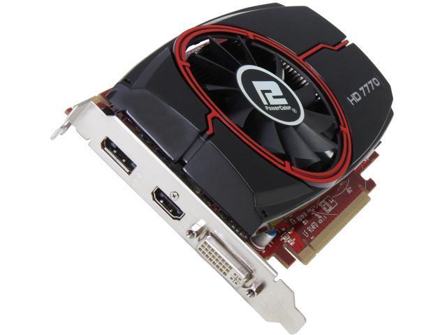 PowerColor Radeon HD 7770 DirectX 11 AX7770 1GBD5-DH 1GB 128-Bit GDDR5 PCI Express 3.0 x16 HDCP Ready CrossFireX Support Video Card