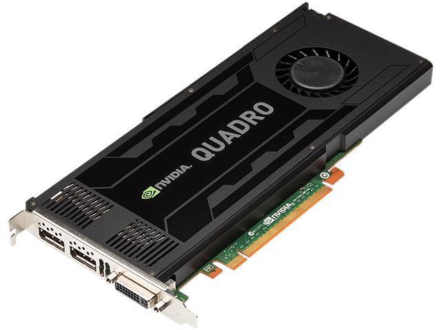NVIDIA VCQK4000 Quadro K4000 PCIE 2.0 x16 3GB GDDR5 HP OEM 900-52030-0300-001 - OEM