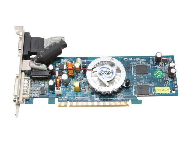 PNY VCG7300SXPB GeForce 7300GS 256MB 64-bit GDDR2 PCI Express x16 Video Card