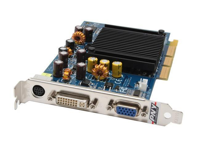 PNY VCG62256APB GeForce 6200 256MB 64-bit GDDR2 AGP 4X/8X Video Card