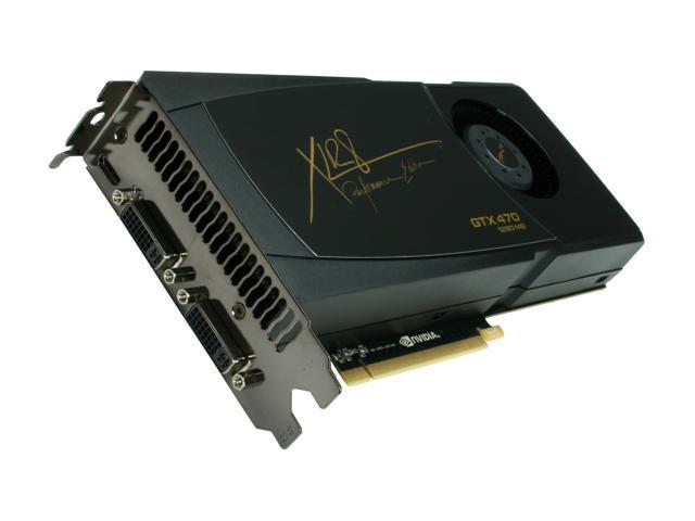 PNY XLR8 GeForce GTX 470 (Fermi) DirectX 11 VCGGTX470XPB 1280MB 320-Bit GDDR5 PCI Express 2.0 x16 HDCP Ready SLI Support Video Card