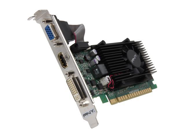 PNY Commercial Series GeForce GT 520 (Fermi) DirectX 11 VCGGT5201XPB-CG 1GB 64-Bit DDR3 PCI Express 2.0 x16 HDCP Ready Low Profile Video Card