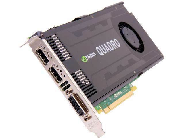 NVIDIA Quadro K4000 VCQK4000-PB 3GB 192-bit GDDR5 PCI Express 2.0 x16 Full Height Workstation Video Card