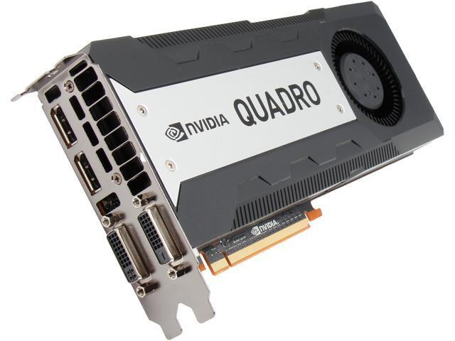 NVIDIA Quadro K6000 VCQK6000-PB 12GB GDDR5 PCI Express 3.0 x16  Workstation Video Card
