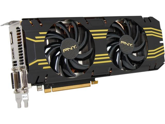 PNY VCGGTX7702XPB-OC G-SYNC Support GeForce GTX 770 2GB OC 256-bit GDDR5 PCI Express 3.0 x16 SLI Support Video Card - Retail